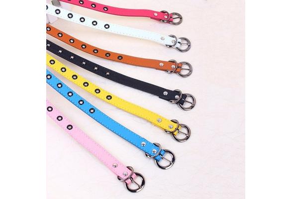 Toddler Baby Candy Color Waist Belt Buckle PU Leather Kids Girls//Boys Waistband~