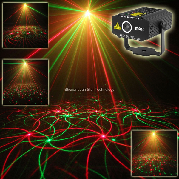 Picture of New Arrival Mini Rg Laser Projector Whirlwind 4 Patterns Light Dj Dance Disco Bar Party Xmas Effect Stage Lighting Lights Show B26
