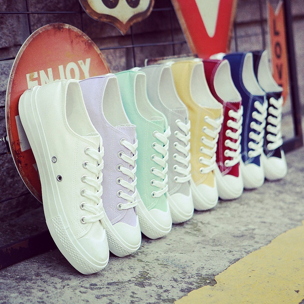 Picture of New Fashion Women All-match Canvas Shoes Casual Sneakers