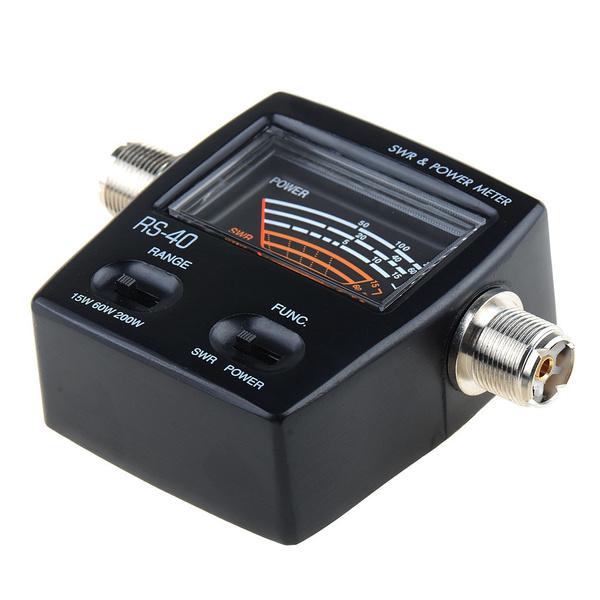 RS-40 SWR Meter for YAESU Mobile VHF UHF FT-7800R FT-7900R FT-8900R Black  XELA3