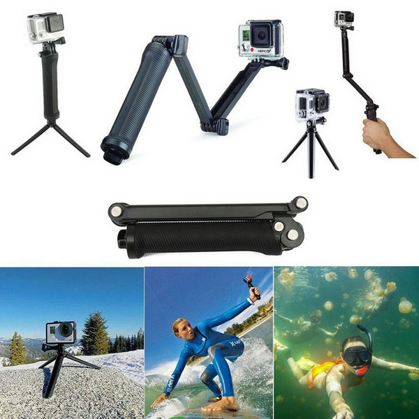 Picture of Portable 3-folds Sports Camera 3-way Monopod+tripod+grip Selfie Stick