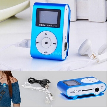 JoymodeHot Sale Mini USB Clip MP3 Player LCD Screen Support 32GB Micro SD TF Card