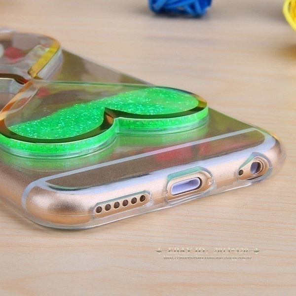 Dynamic Liquid Glitter Quicksand Clear Soft Phone Case Cover For iPhone 6s Plus