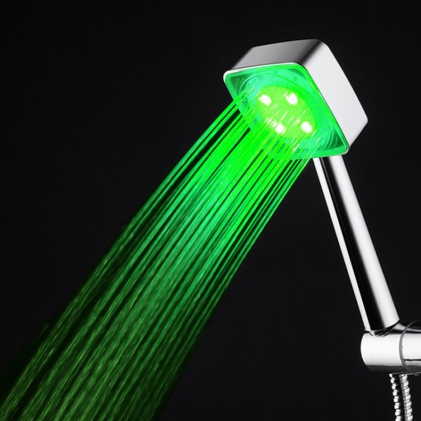 Wish | New LED Light Up Bathroom Shower Heads Temperature Controlled ...