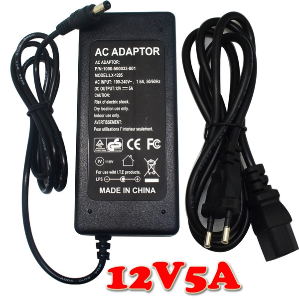 6A 12V UK Plug Power Supply Adapter Charger For 3528 5050 RGB LED Strip Light