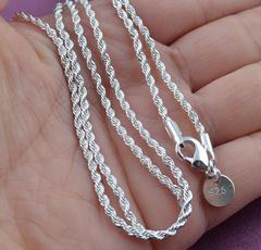 Sterling, Rope, Moda, 925 sterling silver
