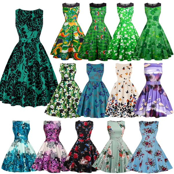 Swing dress, Floral print, Cocktail, Summer