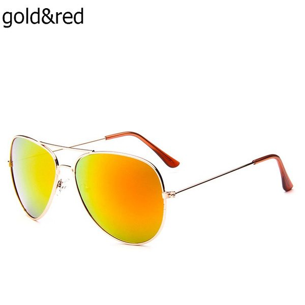 Colorful Lens Eyewear Silver Metal Frame Outdoor Polarized Sunglasses for Man