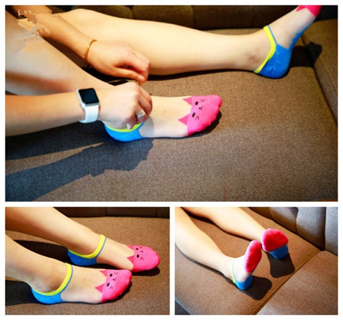 Women's Fashion Transparent Ship Socks Lovely Cat Shallow Top Sock Summer Invisible Socks Colorful