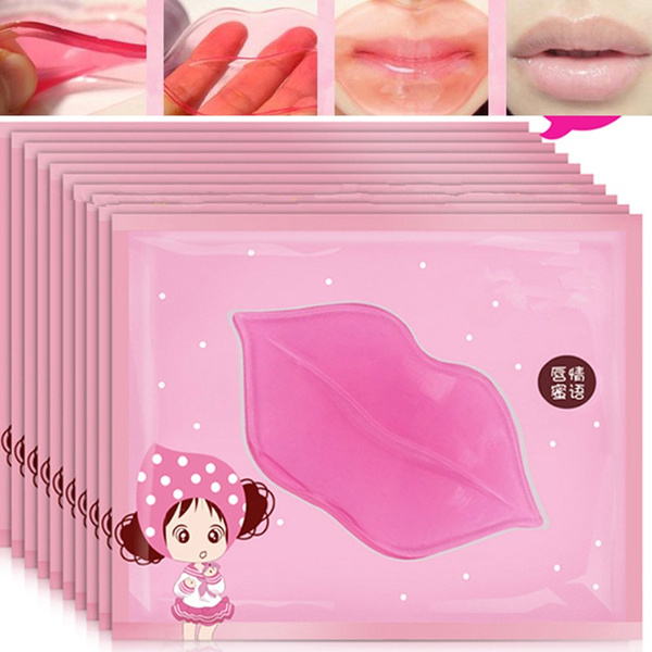 HBDREAM 5pcs/lot Sexy Collagen Crystal Lip Care Mask Anti-Ageing Membrane Moisture Essence BY311