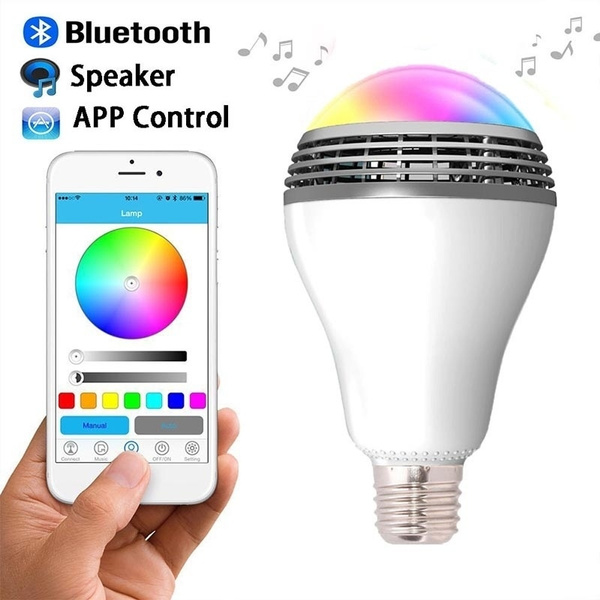 Picture of E27 Bluetooth Bulb Speaker Smart Led Light With Dimmable Multicolored Color Changing