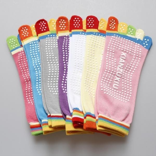 Multicolor Women Yoga Socks Non-slip Rubber Fitness Warm Socks Gym Dance Sport Exercise