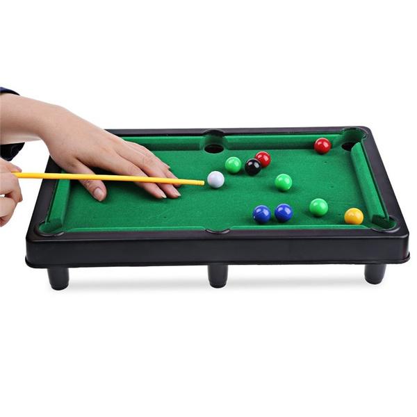 V GEBY Mini Pool Billiards Mini Billiard Ball Snooker Pool Table Top Game Entertainment Props for Child