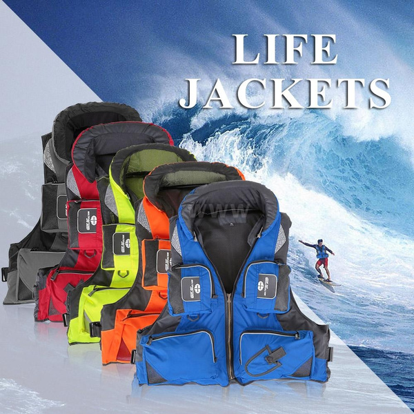 Professional Polyester Kayak Adult Safety Life Jacket ...