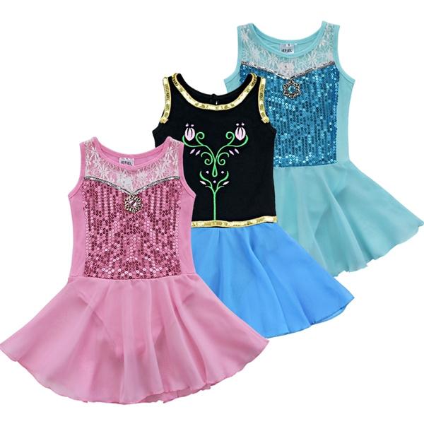 Girls Kids Gymnastics Leotard Ballet Dance Dress Tutu Skirt Dancewear Costumes
