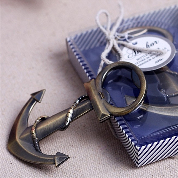Picture of Anchor Bottle Opener For Wedding Beach Themed Nautical Bridal Sea Party