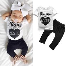 Mamas Infant Newborn Baby Boys Girls Clothes T-shirt Pants Outfits 2PCS Set 0-24