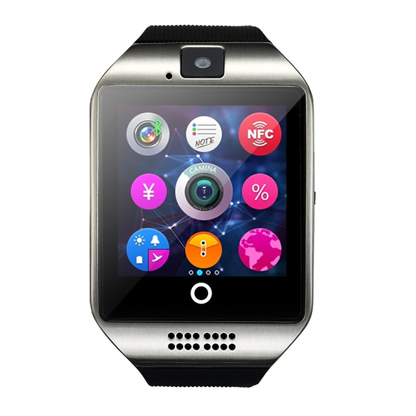 Picture of Nfc Bluetooth Smartwatch With Cameratf/sim Card Slotfor Iospartial Functionsiphone 6/6/6s Plus/5c/5s/5androidfull Functionssamsung Galaxy S3/s4/s5/note