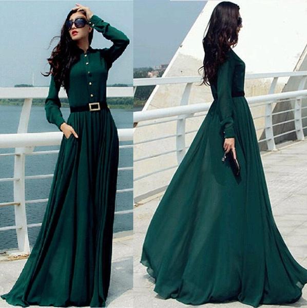 75546ae74bf US Size XS-L Kaftan Abaya Islamic Muslim Cocktail Womens Long Sleeve ...