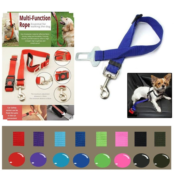 Vogue Adjustable Vehicle Car Pet Dog Cat Safety Seatbelt Seat Belt Harness Lead