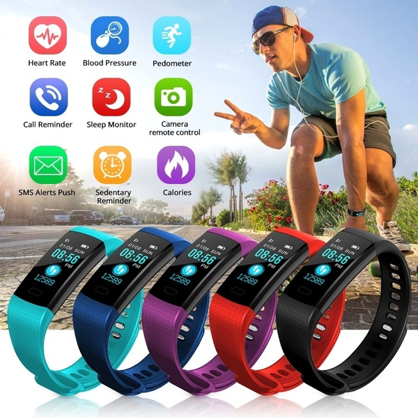 Picture of Diggro Dfit Oled Smart Bracelet Bluetooth 4.0 Ip68 Waterproof Heart Rate Monitor Sports Pedometer Sleep Tracker Call Reminder For Android And Ios
