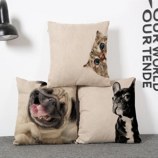 18/'/' cotton Linen Blend Throw Pillow Case Living Room Cushion cover Home Decor