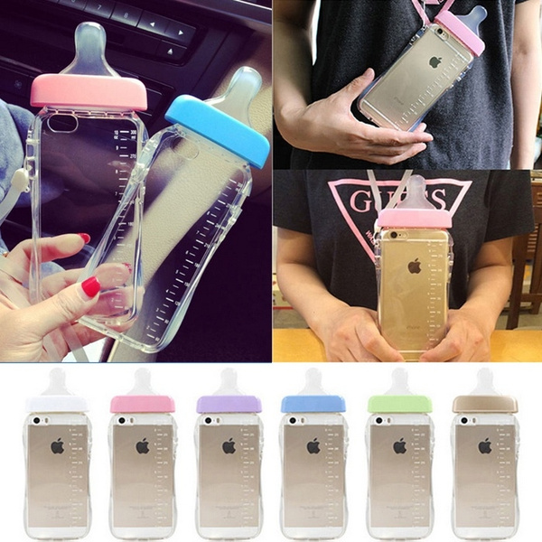 premium selection c831f 5e308 Cute Baby Pacifier Milk Bottle Soft TPU Case Cover For Apple iPhone 5S 6 6S  plus