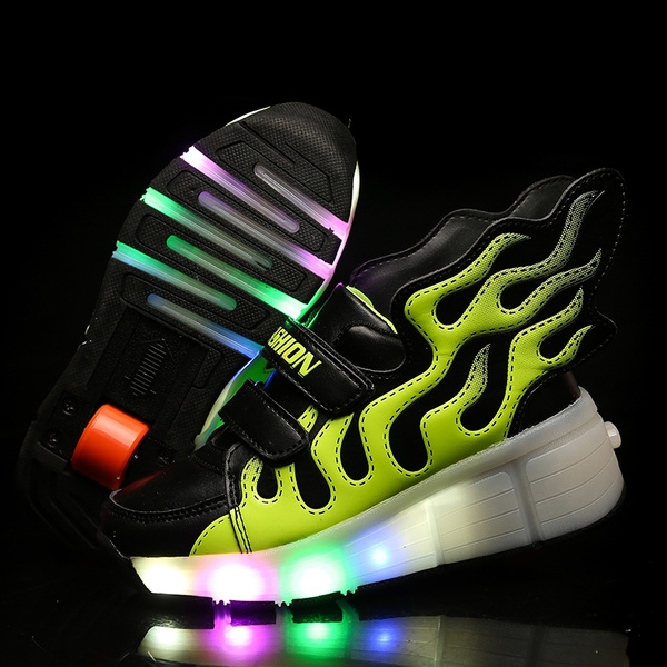 NEW!Kids Girls Boys Wheely/'s Jazzy LED Light Roller Skate Shoes Sneakers