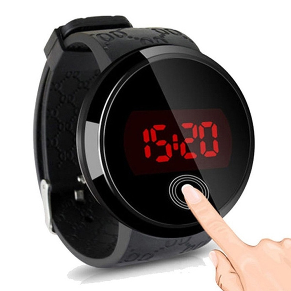 Men LED Touch Screen Day Date Silicone Digital Watch NEW Arrival