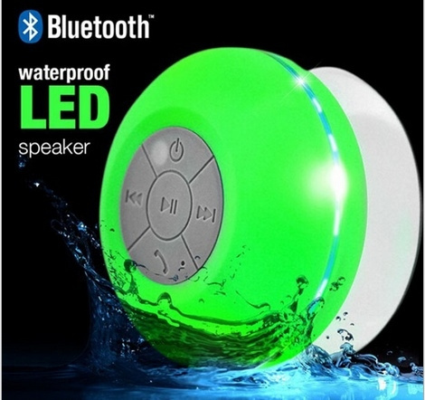 Picture of Werq-06 Waterproof Wireless Bluetooth Handsfree Mic Suction Mini Speaker Shower C