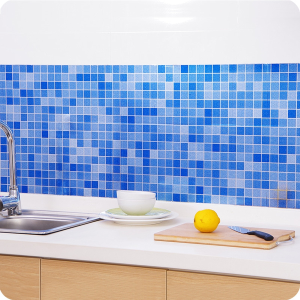 Prepasted Mosaic Tile Effect Self Adhesive Wallpaper Roll Peel Stick Vinyl Wallpaper Waterproof High Temperature Resistance Oil Proof For Bathroom Kitchen Decor 45cm 70cm Wish