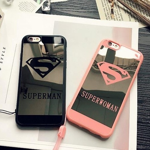 Picture of Fashion Soft Protective Superman Logo Iphone Case Used As Mirrorsuitable For Iphone 5/5s/6/6s/6 Plus/6s Plus.