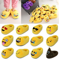 Winter Shoes Unisex Unicorn emoji Full Cover Slipper Plush Footwear Home Indoor Slippers