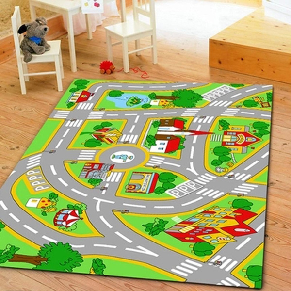 Rug With Roads Kids Play Mat