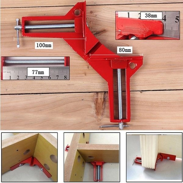90 Degree Right Angle Miter Picture Frame Corner Clamp Holder Jig Hand Tool