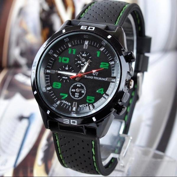 Men Fashion Silicone Band Sport Watch