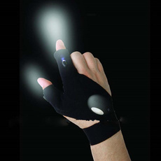 For fishing LED Flashlight cap survival camping hiking night rescue tools mitt outdoor gear CE