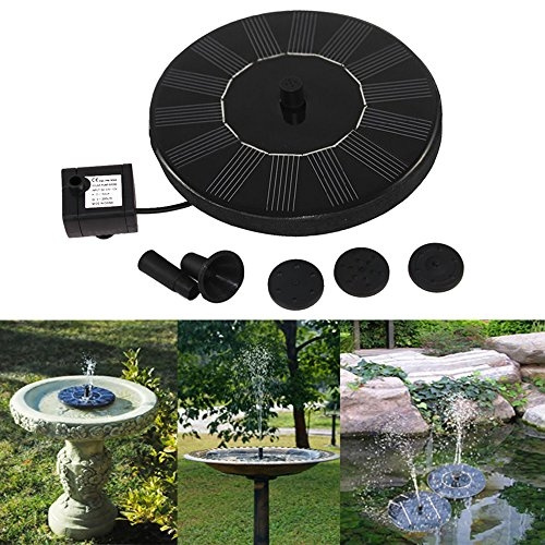 1.4W Solar Panel Power Submersible Fountain Pond Water Pump Battery LED