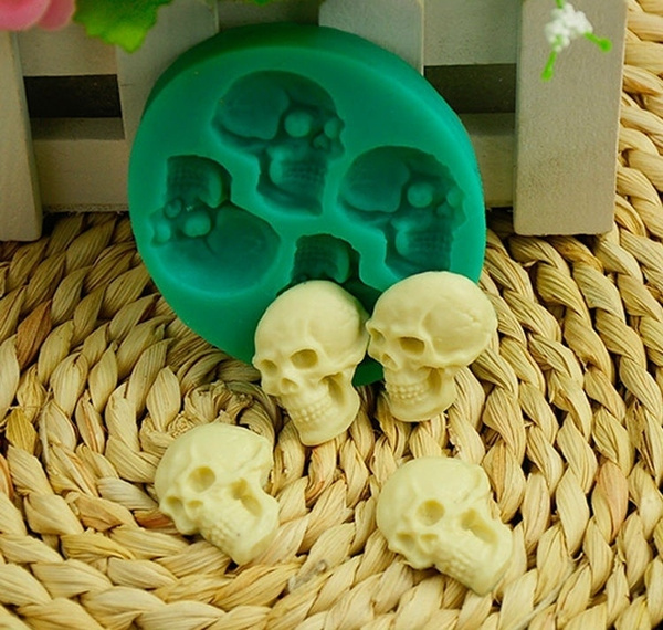 Mini, Head, skull, chocolatemold