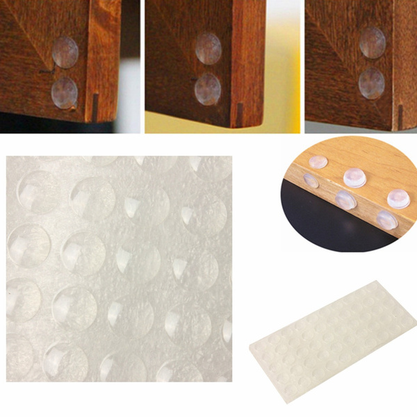 100Pcs Self Adhesive Silicone Feet Bumpers Door Cupboard Drawer Cabinet*~*