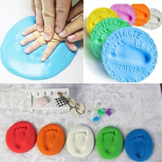 Baby Care Air Drying Soft Clay Baby Handprint Footprint Imprint Kit Casting