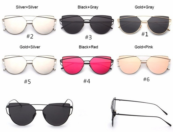 Fashion Vintage Metal Frame Women Sunglass 6 Colors