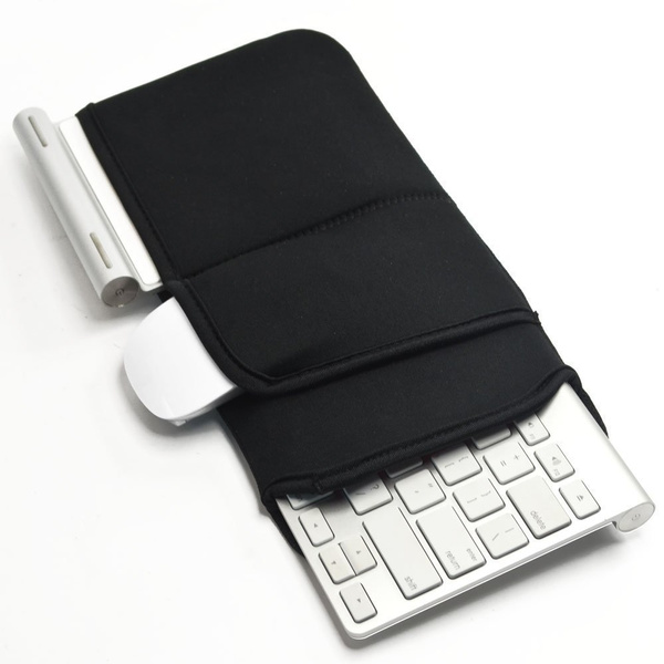 Soft New Neoprene Sleeve Case Portable Protection Zipper Carrying Cover  Bags Skin for Apple Wireless Bluetooth Keyboard MC184LL/B MC184CH and