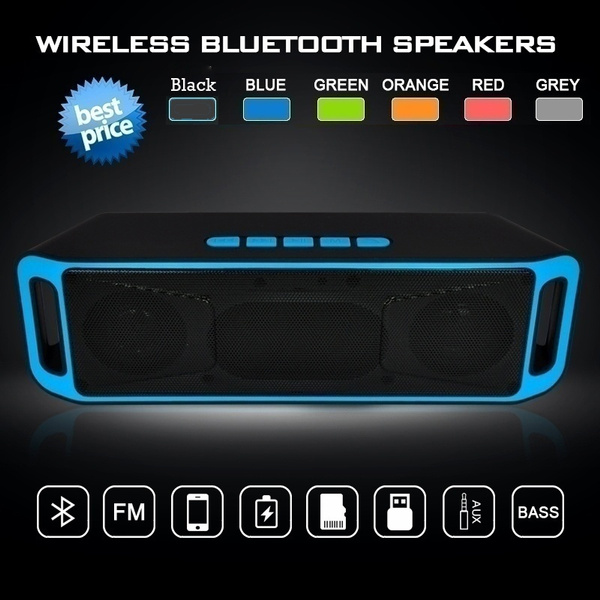 Picture of Hifi Portable Wireless Bass Bluetooth Stereo Speaker Tf Usb Fm