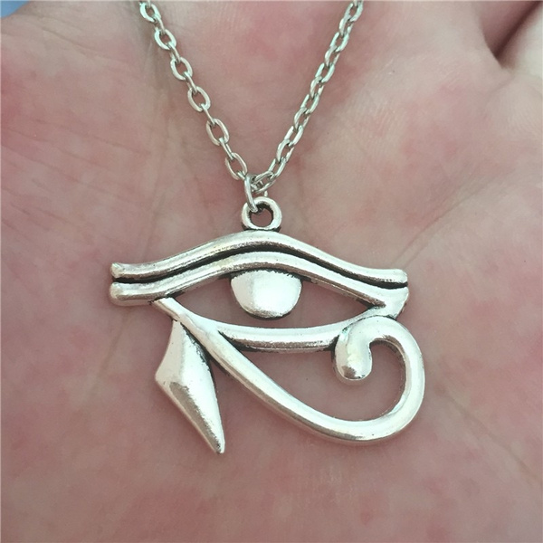 Wish 2016 vintage ancient egypt style the eye of horus pendant wish 2016 vintage ancient egypt style the eye of horus pendant punk metal chain eye necklace gift collar de ojo de horus mozeypictures Image collections