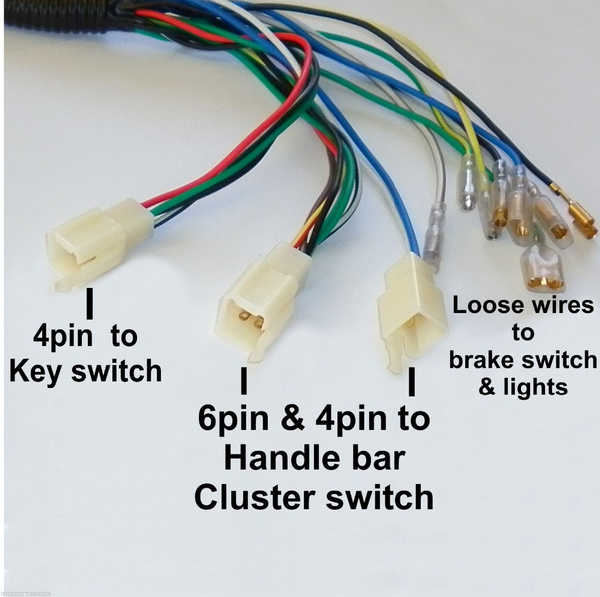 wish quad wiring harness 200 250cc chinese electric start loncin  wish quad wiring harness 200 250cc chinese electric start loncin zongshen ducar lifan