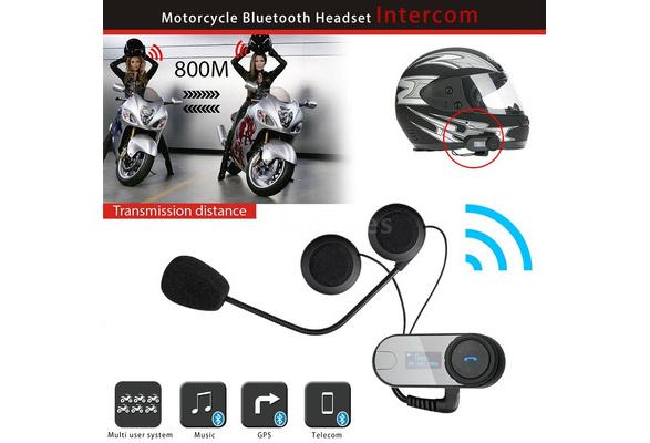 Outdoor Intercom Freedconn Tcom Sc Motorcycle Helmet Bluetooth Intercom Wireless Interphone Fm Waterproof Headset 800m Intercom Distance Hands Free