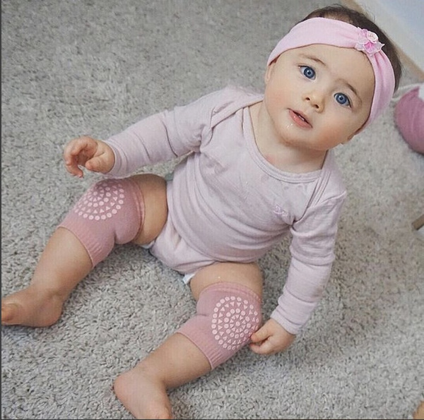 Baby Cotton Crawling Kneepads Anti Slip Leg Warmers Silicone Baby Socks