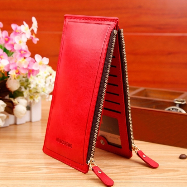 Picture of Luxury Women Wallets Ultra-large Capacity Double Zippers Lady Purses Clutch Card Holders