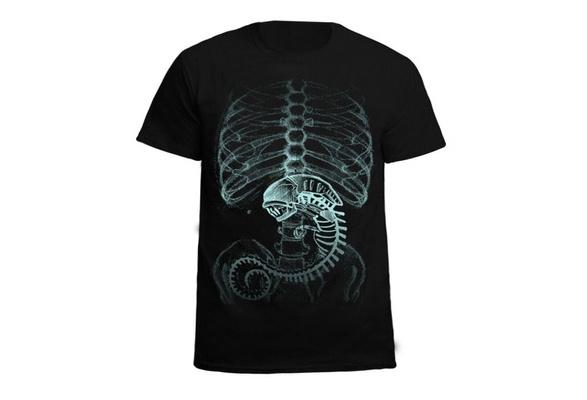 Alien vs. Predator Cosplay Cotton Black Short Sleeved T-Shirt